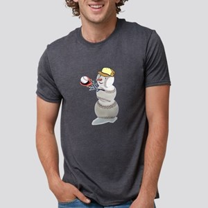 Baseball Snowman T-Shirt