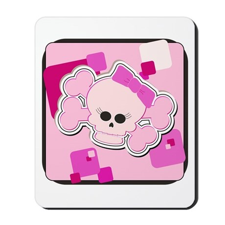 Pink Skull Mousepad
