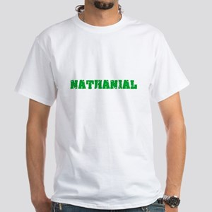 Nathanial Name Weathered Green Design T-Shirt