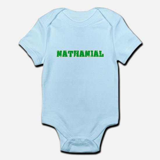 Nathanial Name Weathered Green Design Body Suit