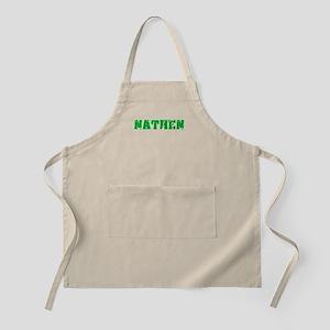 Nathen Name Weathered Green Design Light Apron