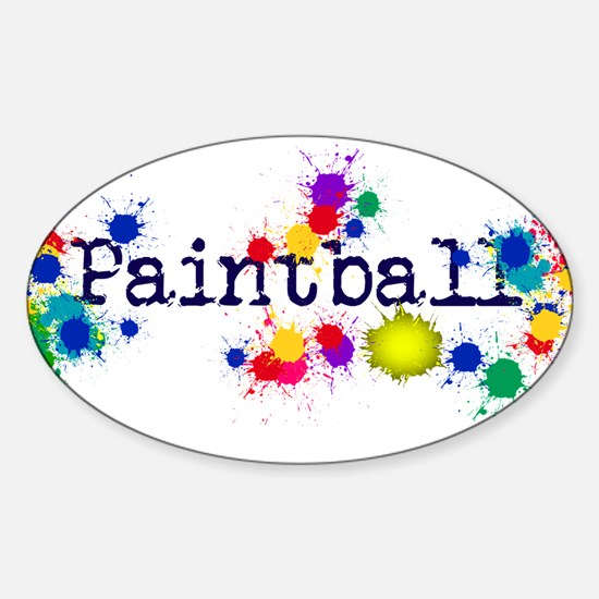 Paintball Paint Splatter Bumper Stickers