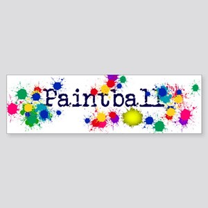 Paintball Paint Splatter Bumper Sticker