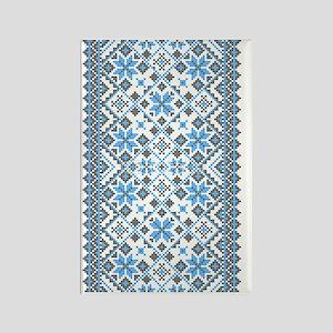 Blue UkrPrint Rectangle Magnet