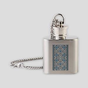 Blue UkrPrint Flask Necklace