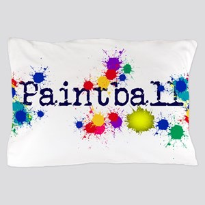 Paintball Paint Splatter Pillow Case