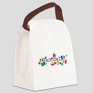 Paintball Paint Splatter Canvas Lunch Bag