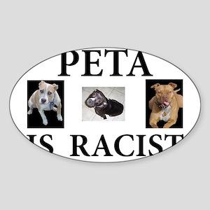 BAN PETA & BSL Oval Sticker