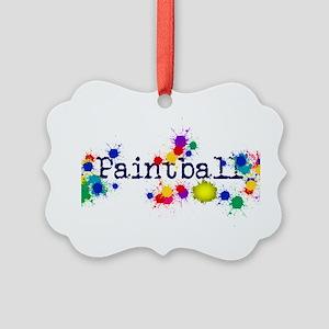 Paintball Paint Splatter Picture Ornament