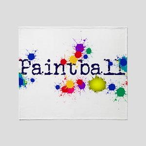 Paintball Paint Splatter Throw Blanket