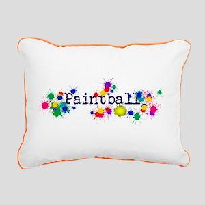 Paintball Paint Splatter Rectangular Canvas Pillow