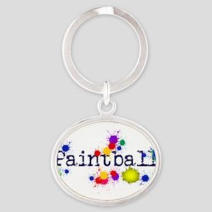 Paintball Paint Splatter Keychains