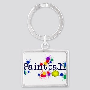 Paintball Paint Splatter Keychains