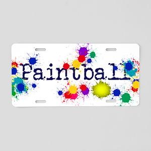 Paintball Paint Splatter Aluminum License Plate