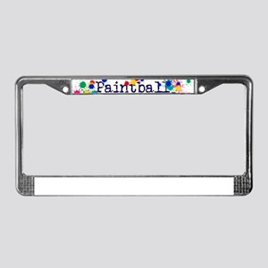 Paintball Paint Splatter License Plate Frame