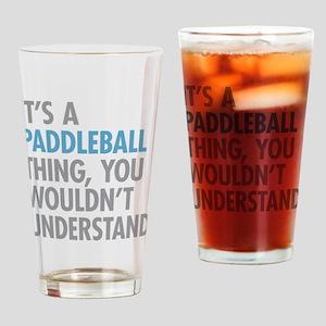 Paddleball Thing Drinking Glass