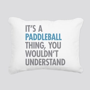 Paddleball Thing Rectangular Canvas Pillow