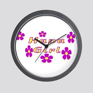 Hapa Girl Flowers Wall Clock