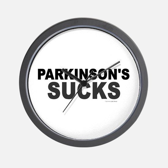 Parkinson's Sucks 1.2 Wall Clock