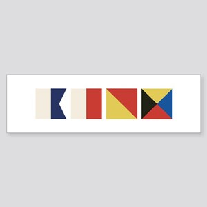 Nautical Flags Bumper Sticker