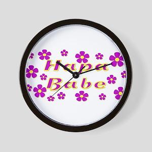 Hapa Babe Flowers Wall Clock