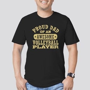 Volleyball Dad Men's Fitted T-Shirt (dark)