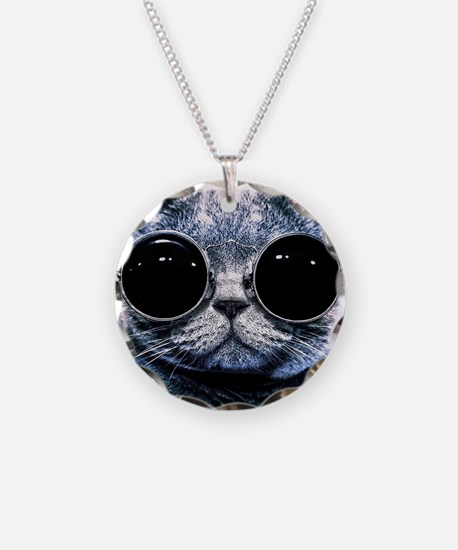 Cool Cat With Shades Necklace