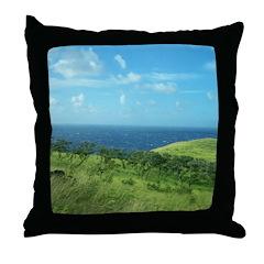 Maui Meadow Trees Throw Pillow