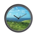 Maui Meadow Trees Wall Clock