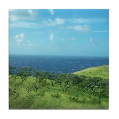 Maui Meadow Trees Tile Coaster