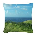 Maui Meadow Trees Woven Throw Pillow