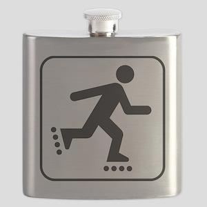 Rollerblade Park Symbol Flask