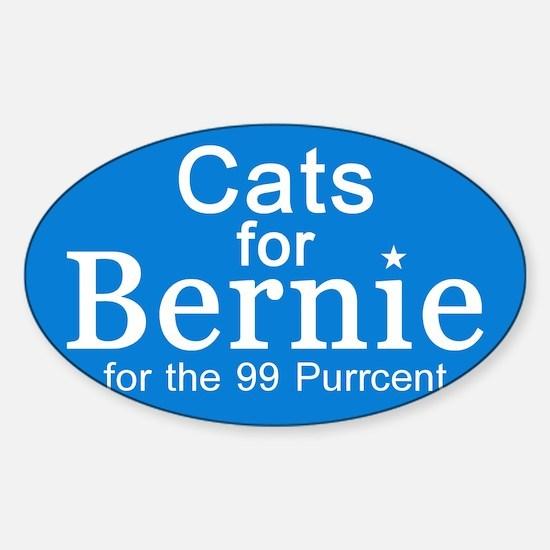 Cats For Bernie Sticker (oval)