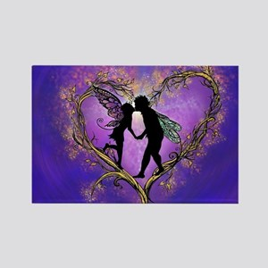 Kissing Fairies Rectangle Magnet