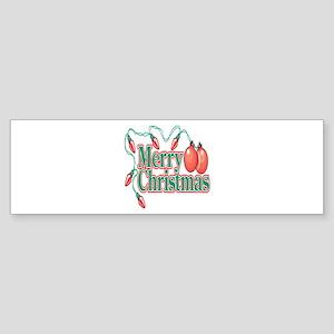 Merry Christmas (Christmas Lights) Sticker (Bumper