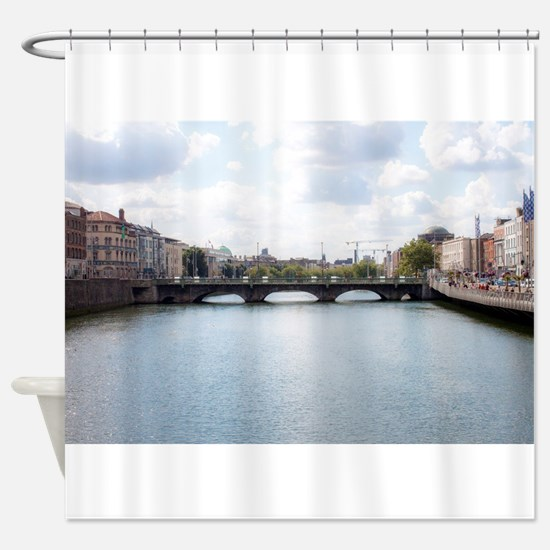 Downtown Dublin - Ireland Shower Curtain