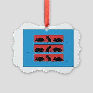 My Little Rats Picture Ornament