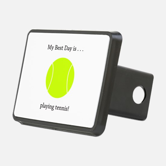 Best Day Playing Tennis Gifts Hitch Cover