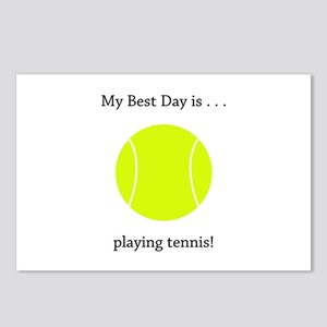 Best Day Playing Tennis Gifts Postcards (Package o