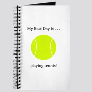 Best Day Playing Tennis Gifts Journal