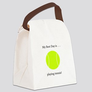 Best Day Playing Tennis Gifts Canvas Lunch Bag