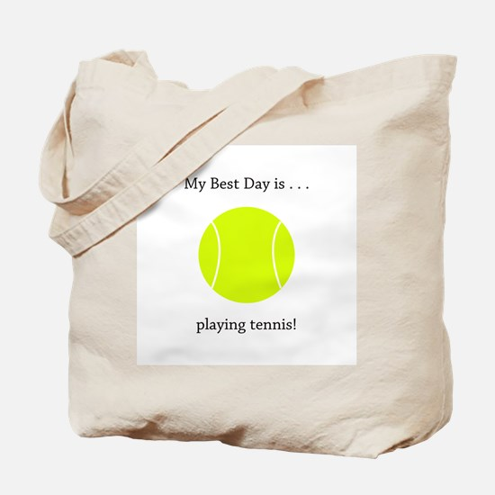 Best Day Playing Tennis Gifts Tote Bag