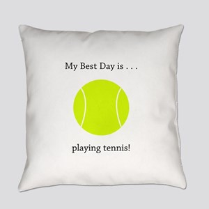 Best Day Playing Tennis Gifts Everyday Pillow