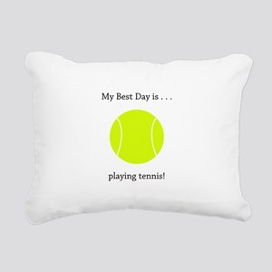 Best Day Playing Tennis Gifts Rectangular Canvas P