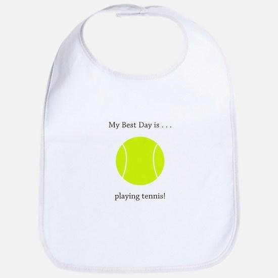 Best Day Playing Tennis Gifts Bib