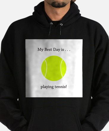 Best Day Playing Tennis Gifts Hoodie