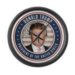 Vote Donald Trump President Large Wall Clock