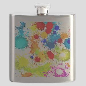 Paintball Splatter Wall Flask