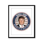 Vote Donald Trump President Framed Panel Print