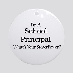 School Principal Round Ornament